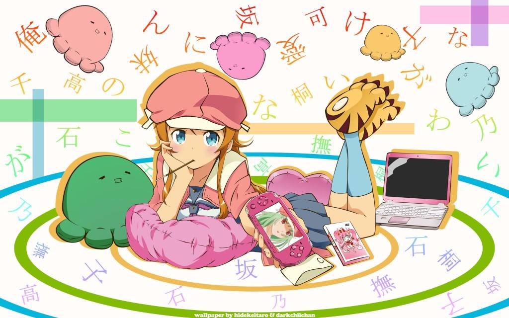 cute girl enjoying kawaii culture