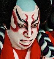 dramatic kabuki makeup