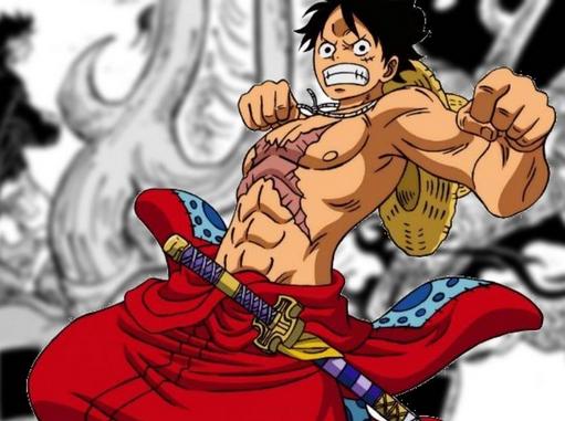 Luffy punching