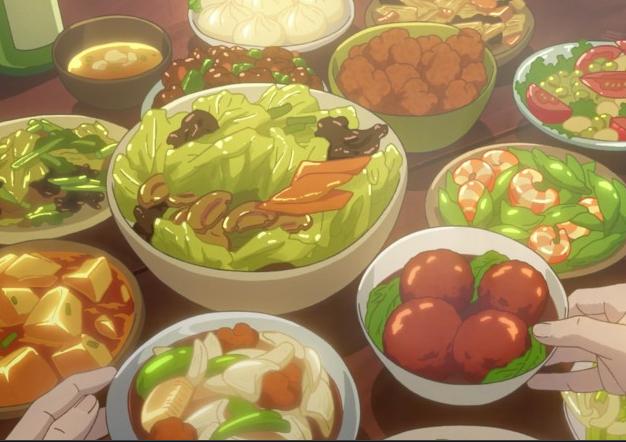 fancy anime food